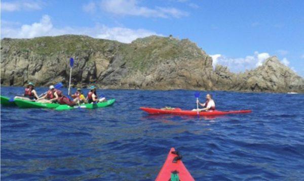ruta en kayak con bigui foto en isla villano
