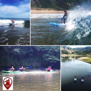foto de actividades posibles con BIGUI en el city surf camp