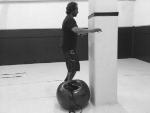 entrenamiento funcional fitness ball.equilibrio