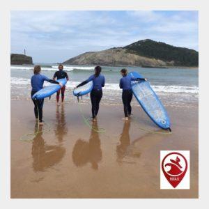 clase de surf para adultos con BIGUI